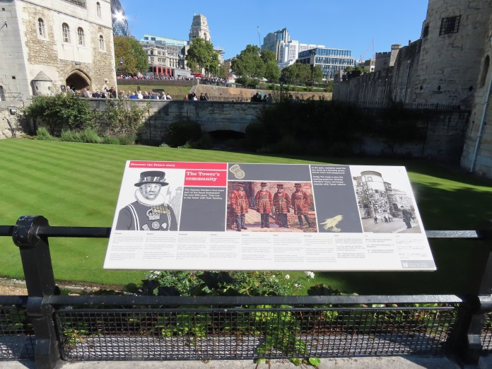 signs at Tower of London
