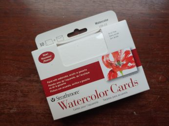 Blank watercolor cards