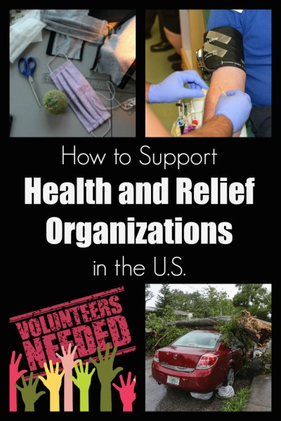 support health and relief organizations