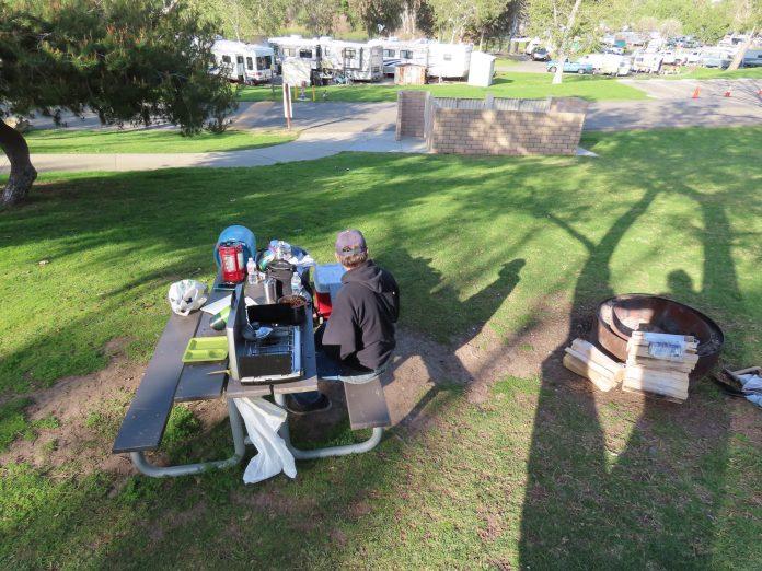 tent camping at Bonelli Bluffs RV Resort & Campground