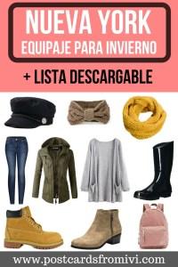 Qué ropa llevar a Nueva York en invierno + lista descargable