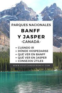 Road Trip por el Parque Nacional Banff y Jasper en Canadá
