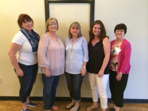 Conroe Service League Officers for 2015-2016 are (from left to right) Margaret Harrison, corresponding secretary; Patricia Widerquist, treasurer; Cheryl Fullen, president; Lacey Spikes, vice president; and Marcia Reagan, recording secretary.