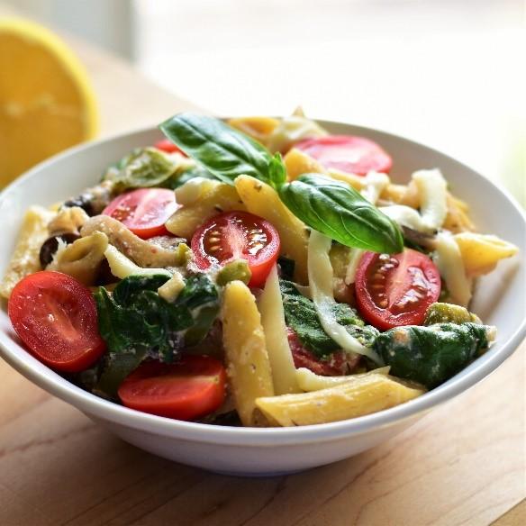 Lemon Ricotta Pasta with Vegetables