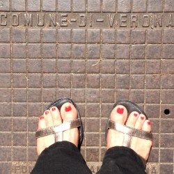 Comfortable, broken in shoes with rubber soles are great traveling companions!