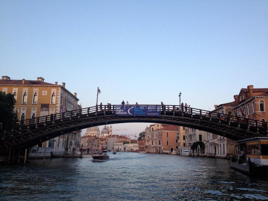 The last wooden bridge in Venice