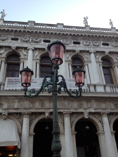 The unique lamp posts of Venice