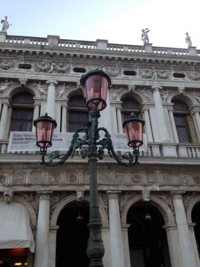 The unique lamp posts of Venice