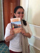 Ishita with my book