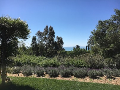 San Ysidro Ranch gardens terrace with view