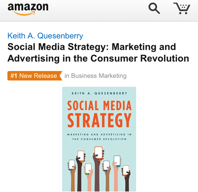 Social Media Marketing Strategy Keith Quesenberry Amazon #1 Business Marketing