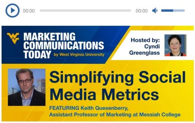 Keith Quesenberry Simplifying Social Media Metrics