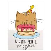 Verjaardagskaart Kattenfeestje van Muchable