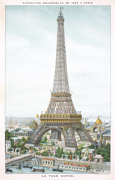 Original poster form the 1889 Exposition Universelle / World's Fair in Paris