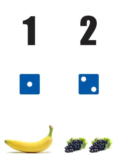 Getallen-1-2-poster in de klas getallenlijn