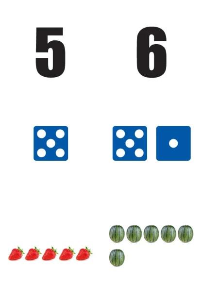 Getallen-5-6-poster in de klas getallenlijn