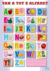 Poster alfabet A t/m Z educatieve posters voor klas of thuis