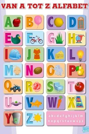 Alfabet A to Z poster in de klas