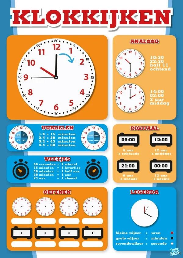 Uitgelezene Klokkijken - Poster in de Klas DW-48