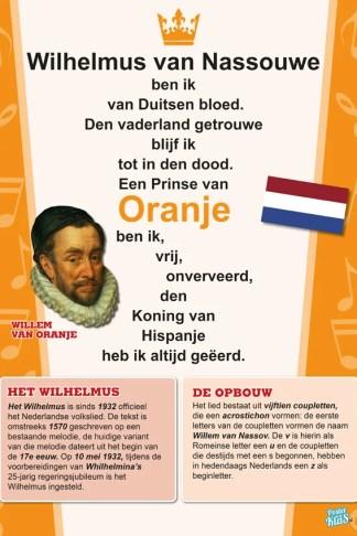 Wilhelmus poster volkslied Nederland