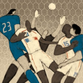 Germany, 2006: Italy - France 5-3 (1-1). Marco Materazzi equalizes the match with a header.