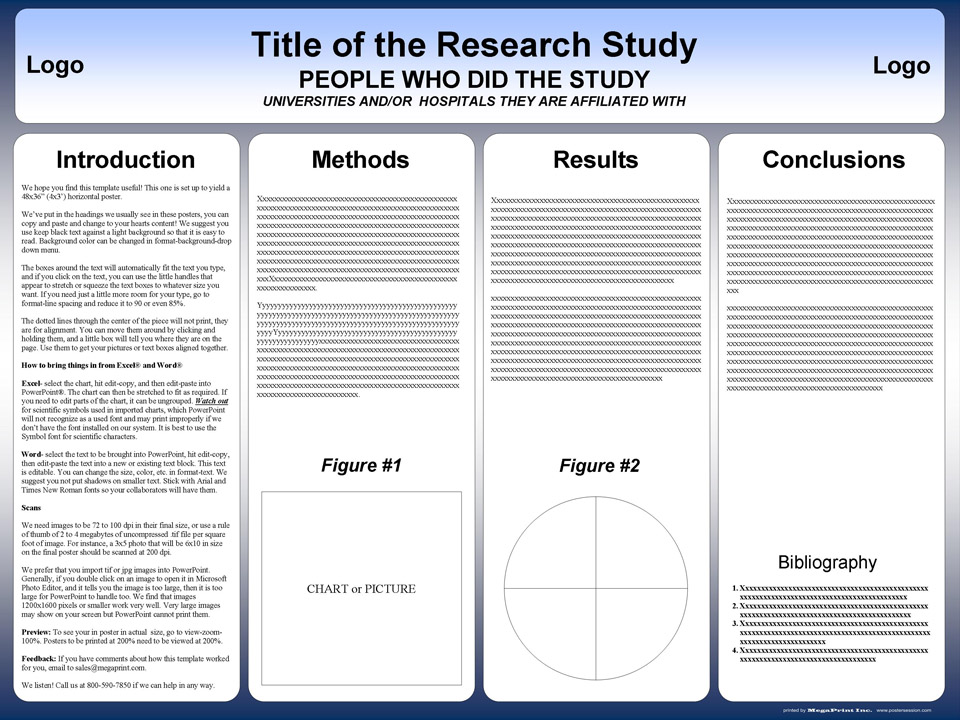 free powerpoint scientific research poster templates for printing