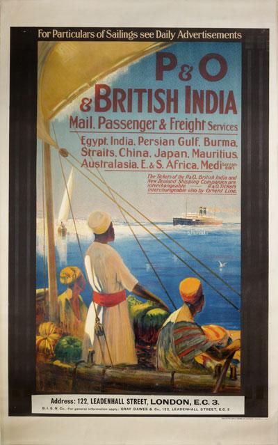 Original Vintage Poster P Amp O Amp British India For Sale At Posterteam Com