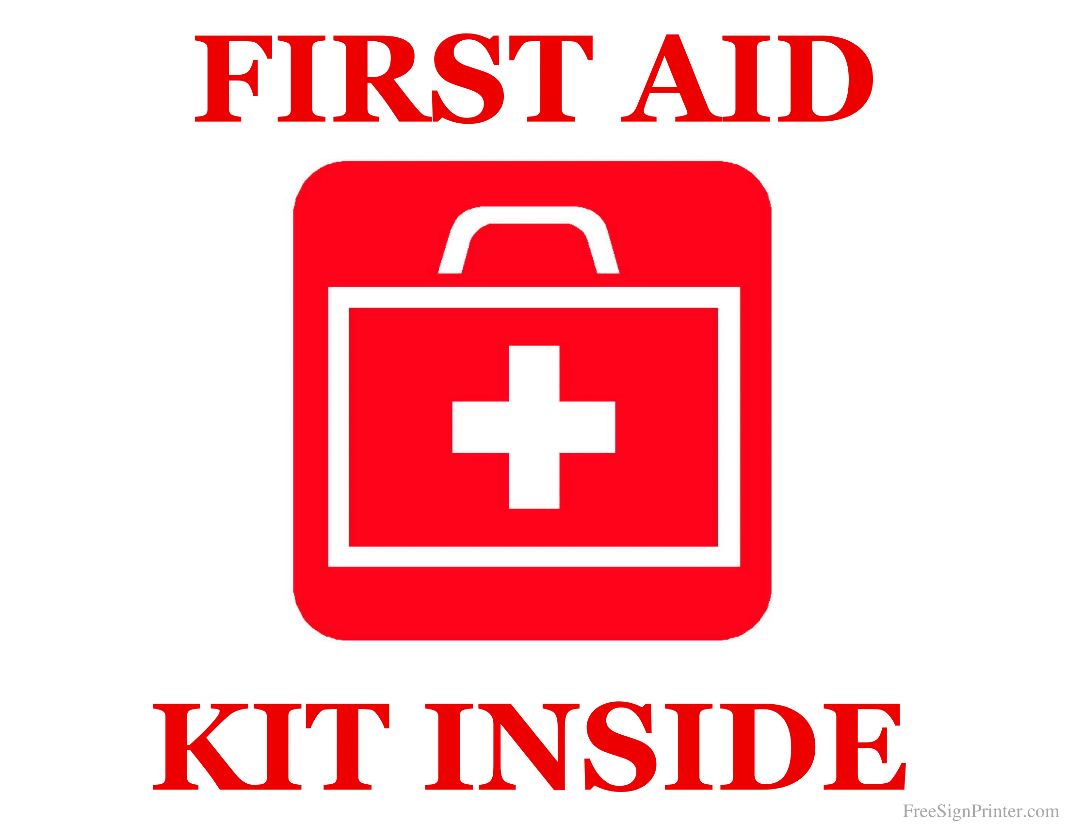 First Aid Kit Signs Poster Template