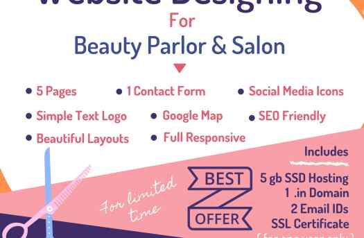 Website Design for Beauty Parlor at Rs.9999/- | free Classified | Free Advertising | free classified ads