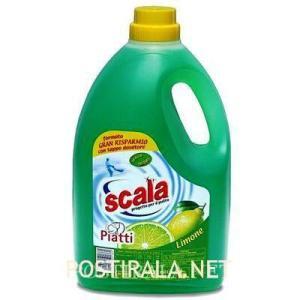 Жидкость для мытья посуды SCALA Detersivo per stoviglie a mano limone, 4000 ml