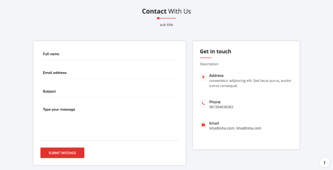 14. CONTACT WIDGET SECTION