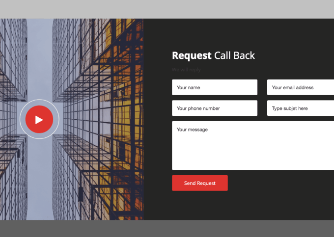 11. REQUEST CALL BACK WIDGET SECTION