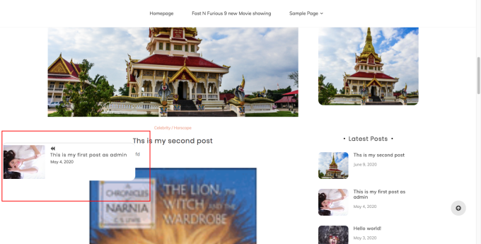 Floating next post and previous post navigation