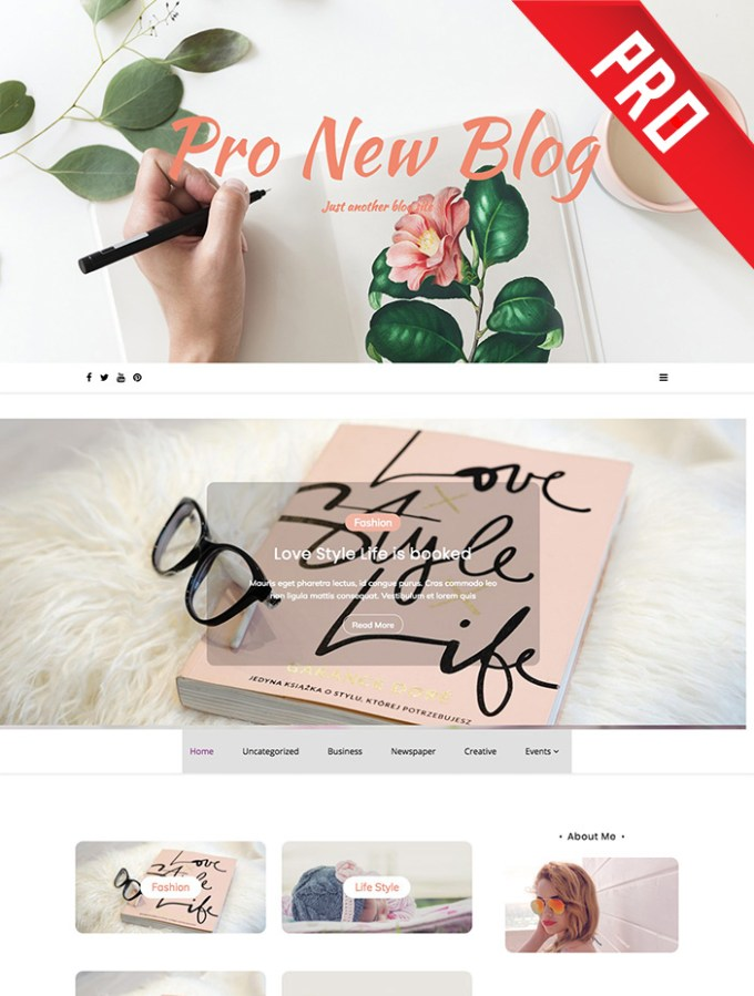 pro new blog wordpress theme