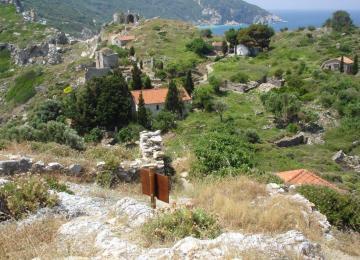 Στο κάστρο του Παπαδιαμάντη στη Σκιάθο