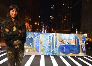 Μία 23χρονη Ελληνίδα «κέρδισε» το Μανχάταν με την τοιχογραφία της!