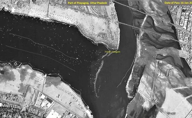 kumbh mela visible from space