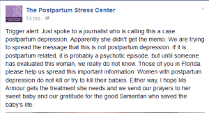 Postpartum Stress Center FB Snapshot