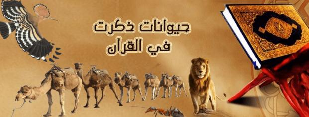 حيوانات ذكرت في القرآن