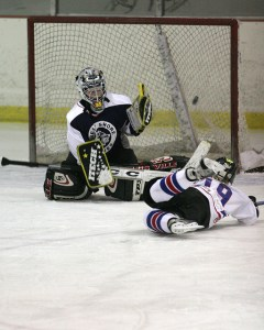 happiness is putting the puck in the net - photo courtesy of battlecreekcvb