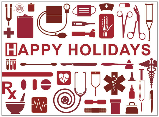Medical Happy Holidays Card Medical Holiday Cards