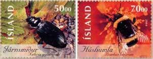 grondkever-en-veldhommel-ijsland-2004-postzegels