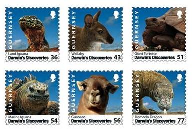 darwin-guernsey-postzegels-2009
