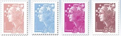 marianne-reeks-postzegels-frankrijk-2009