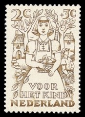 NVPH 544 - Kinderzegel 1949 - herfst