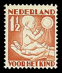 NVPH 232 - Kinderzegel 1930 - lente jong kind