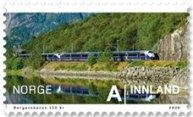 bergen_trein_noorwegen_postzegel