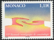 2 postzegel strijd tegen kanker Monaco 2004 6th Biennial conference of Cancer Research