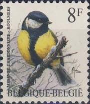3 postzegel koolmees Parus major België 1992