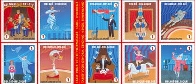 circus-postzegels